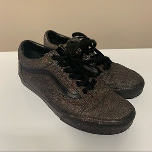 Vans Black & Rainbow Glitter Classic Sneakers